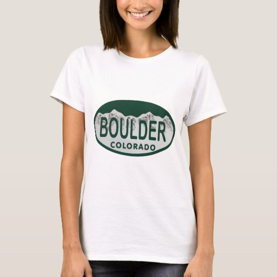 Boulder license oval T-Shirt