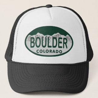 Boulder license oval trucker hat