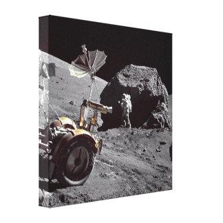 Boulder lunar impresion de lienzo