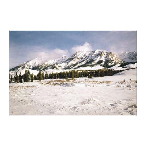 Boulder Mountain View Canvas Print