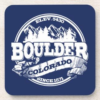 Boulder Old Circle Blue Beverage Coaster