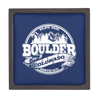 Boulder Old Circle Blue Premium Jewelry Box