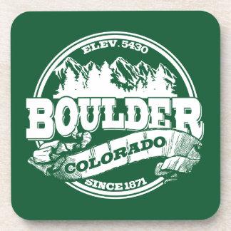 Boulder Old Circle Green Drink Coaster