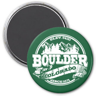 Boulder Old Circle Green 3 Inch Round Magnet
