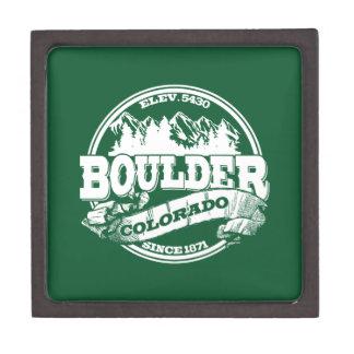 Boulder Old Circle Green Premium Trinket Boxes