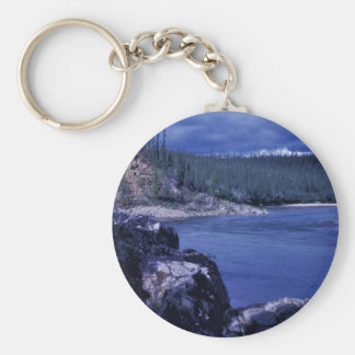 Boulder Point on Coleen River Key Chains