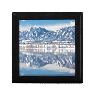 Boulder Reservoir Flatirons Reflections Boulder Co Keepsake Boxes