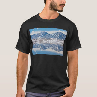 Boulder Reservoir Flatirons Reflections Boulder Co T-Shirt