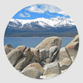 Boulder Shore Lake Tahoe Classic Round Sticker