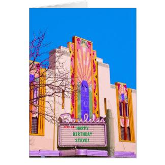 Boulder Theater Customizable Markee Card