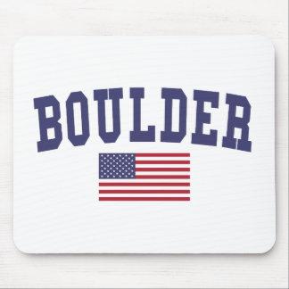 Boulder US Flag Mouse Pad