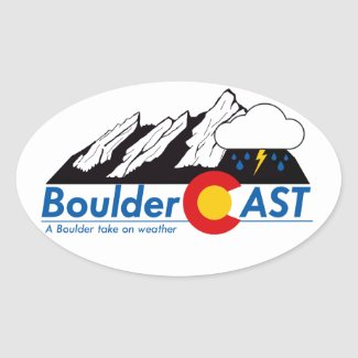 "BoulderCAST Glossy Oval Stickers 4.5"" x 3"""