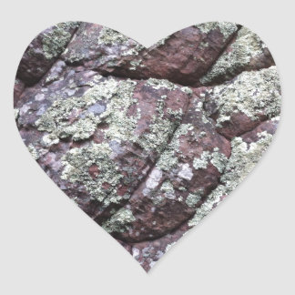 Bouldered Rocks with Lichen Moss Heart Stickers