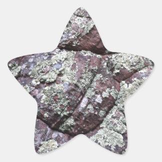 Bouldered Rocks with Lichen Moss Star Sticker