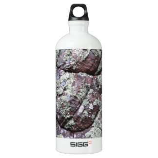 Bouldered Rocks with Lichen Moss Water Bottle
