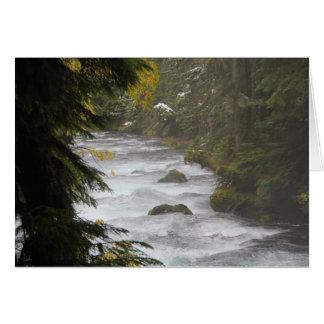 bouldering creek greeting card