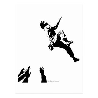 Bouldering Graphic Post Card
