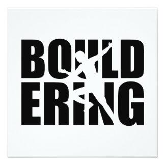 """Bouldering Invitación 5.25"""" X 5.25"""""""