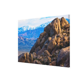 Boulders and Mountains Canvas Print