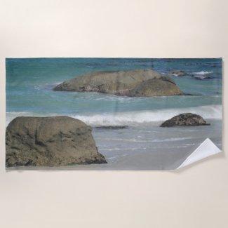 Boulders Beach South Africa Beach Towel