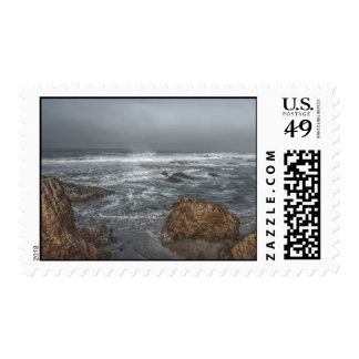 Boulders by the Coast Postage Stamps