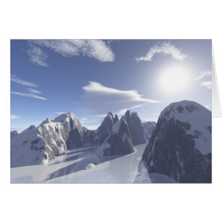 boulders (frozen river) greeting card