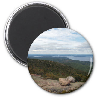 Boulders On Cadillac Mountain 2 Inch Round Magnet