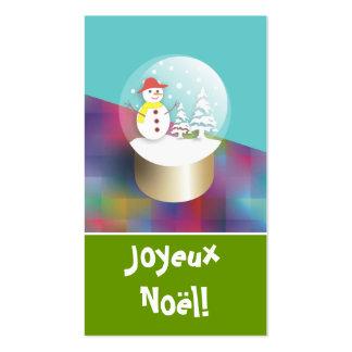 Boule a neige cartes de visite Etiquettes cadeaux Double-Sided Standard Business Cards (Pack Of 100)