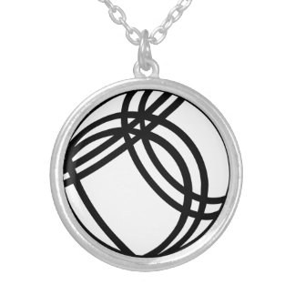 Boule Boccia ball Round Pendant Necklace