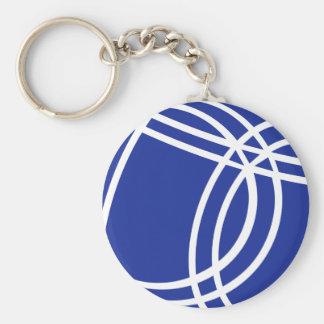 Boule Boccia Petanque Basic Round Button Keychain