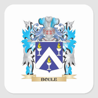 Boule Coat of Arms Square Sticker