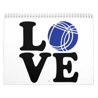 Boule petanque love calendar
