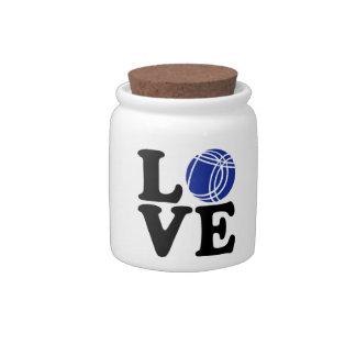 Boule petanque love candy jar