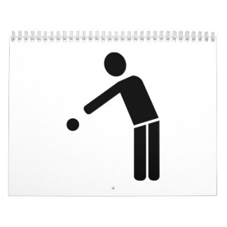 Boule Petanque player icon Calendar