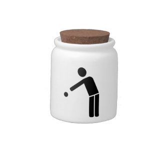 Boule Petanque player icon Candy Dish