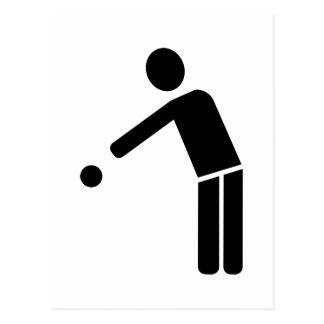 Boule Petanque player icon Postcard