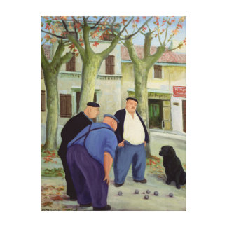 Boules Players Canvas Print