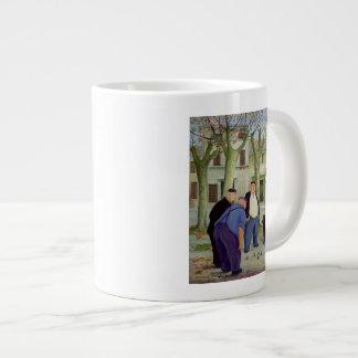 Boules Players Large Coffee Mug