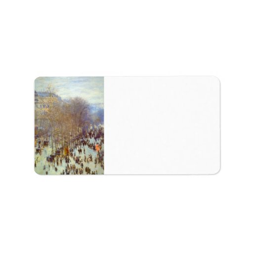 Boulevard Capucines by Claude Monet Personalized Address Labels