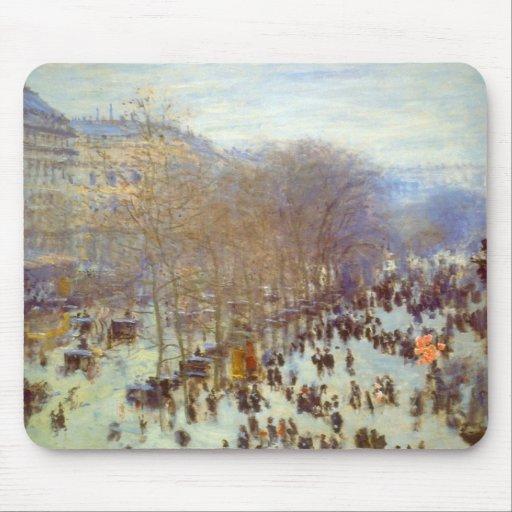 Boulevard Capucines by Claude Monet Mouse Pad
