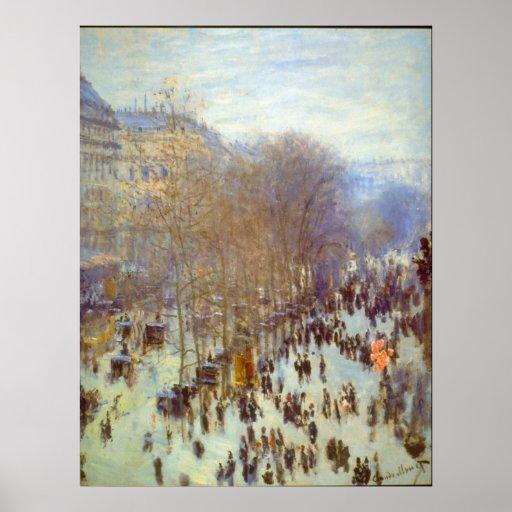 Boulevard Capucines by Claude Monet Poster