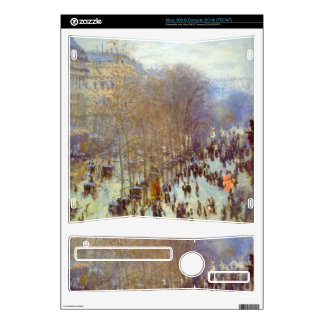 Boulevard Capucines by Claude Monet Skin For Xbox 360 S