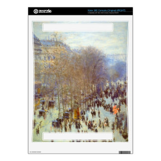 Boulevard Capucines by Claude Monet Xbox 360 Console Skin