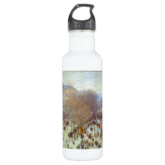 Boulevard Capucines by Claude Monet Stainless Steel Water Bottle