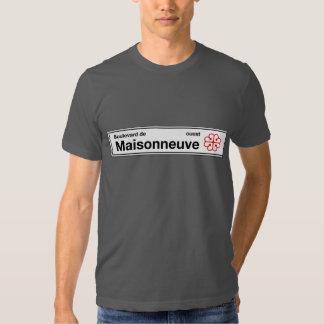 Boulevard de Maisonneuve, placa de calle de Camisas