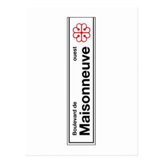 Boulevard de Maisonneuve, placa de calle de Tarjetas Postales