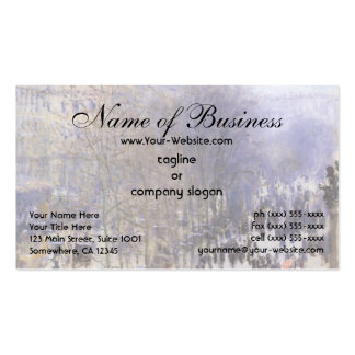 Boulevard des Capucines by Claude Monet Double-Sided Standard Business Cards (Pack Of 100)