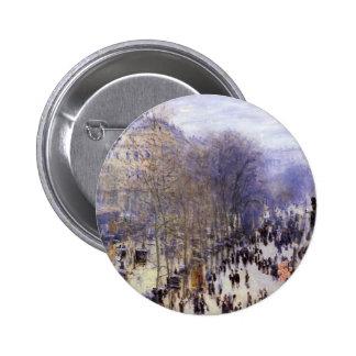 Boulevard des Capucines by Claude Monet, Fine Art Button