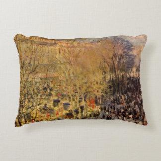 Boulevard des Capucines by Claude Monet, Fine Art Decorative Pillow