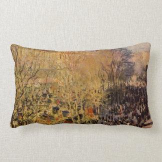 Boulevard des Capucines by Claude Monet, Fine Art Lumbar Pillow